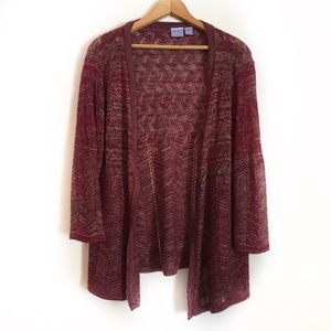 ❄️Laura Scott Open Front Cardigan Sweater